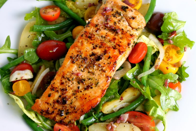am giving the salmon recipe separate from the salad; you may want to ...