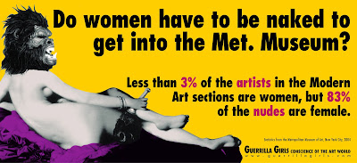 """Guerrilla Girls, Poster: """"Do women have to be naked to get into the Met. Museum"""",   Courtesy of the Guerrilla Girls"""