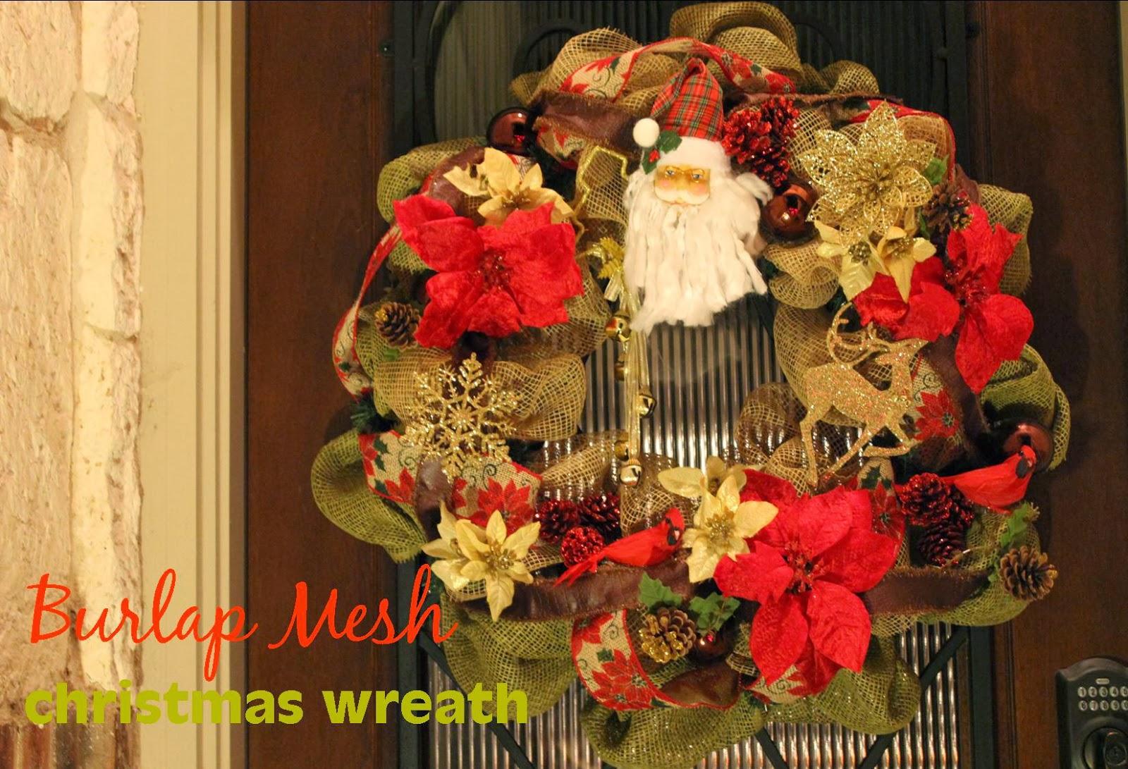 diy burlap mesh christmas wreath - How To Make A Christmas Wreath With Mesh