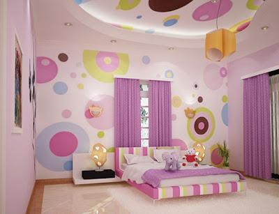 dormitorio adolescente en púrpura