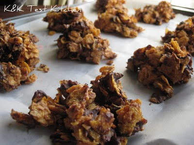peanut butter chocolate cornflake haystacks recipe