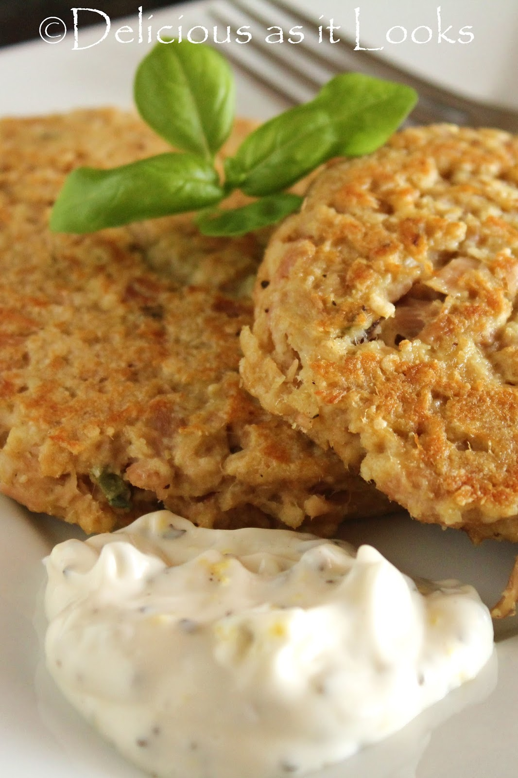 Low-FODMAP Quinoa Tuna Patties with Lemon Basil Mayo / Delicious as it ...