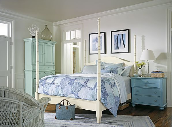 Color plays a big role in coastal decorating