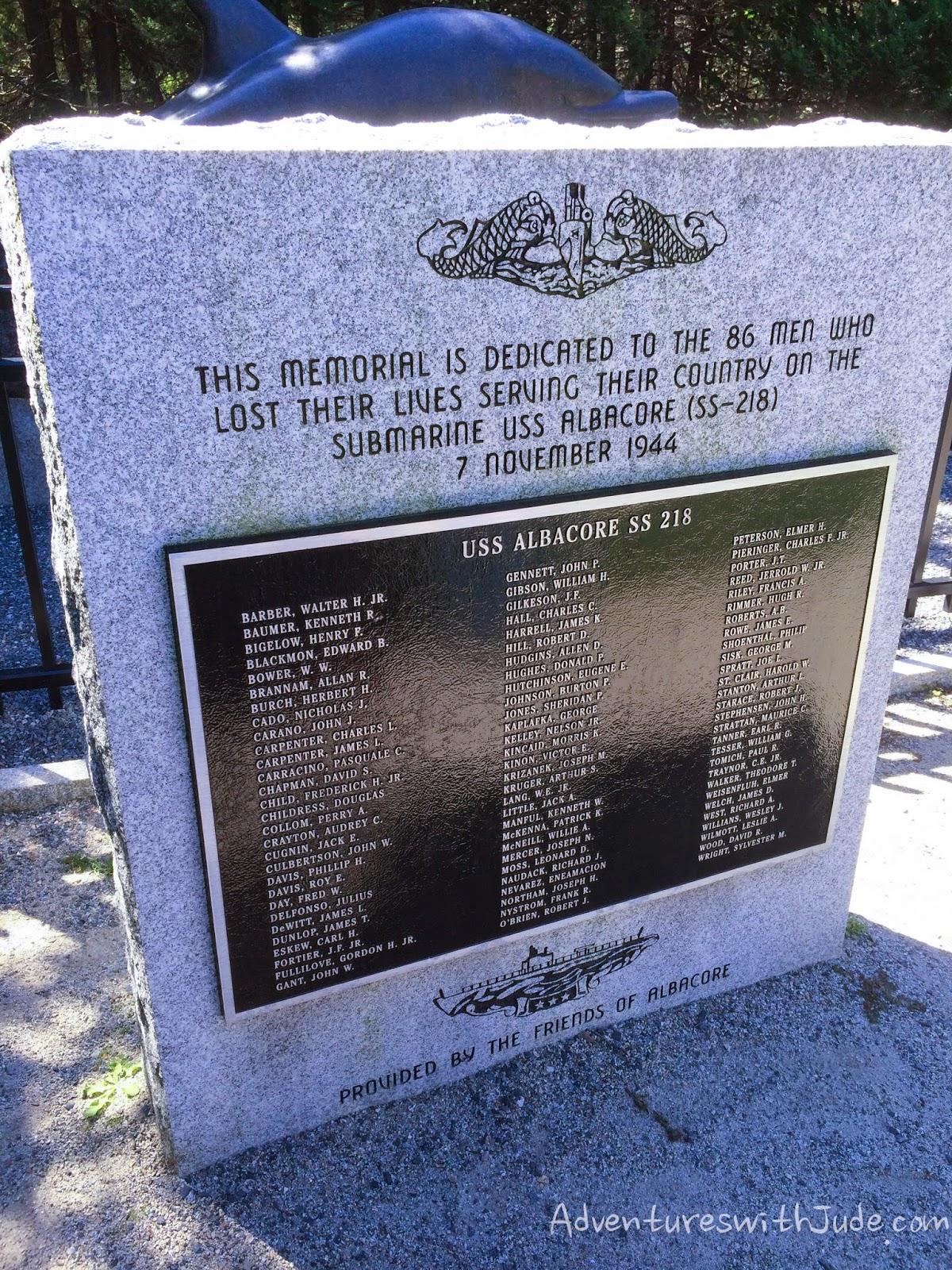 uss albacore memorial