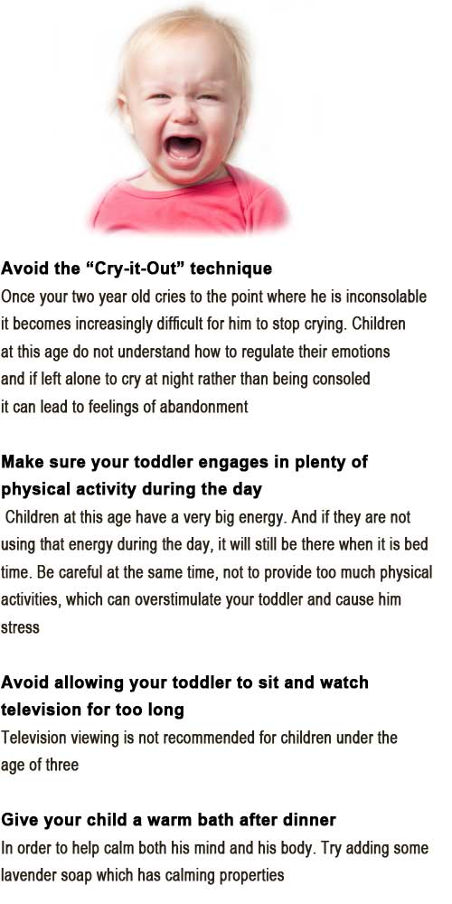 how to get a crying toddler to sleep