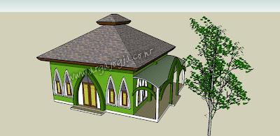 Desain Mushola Al Ikhlas Pada lahan Ukuran 8x9 meter