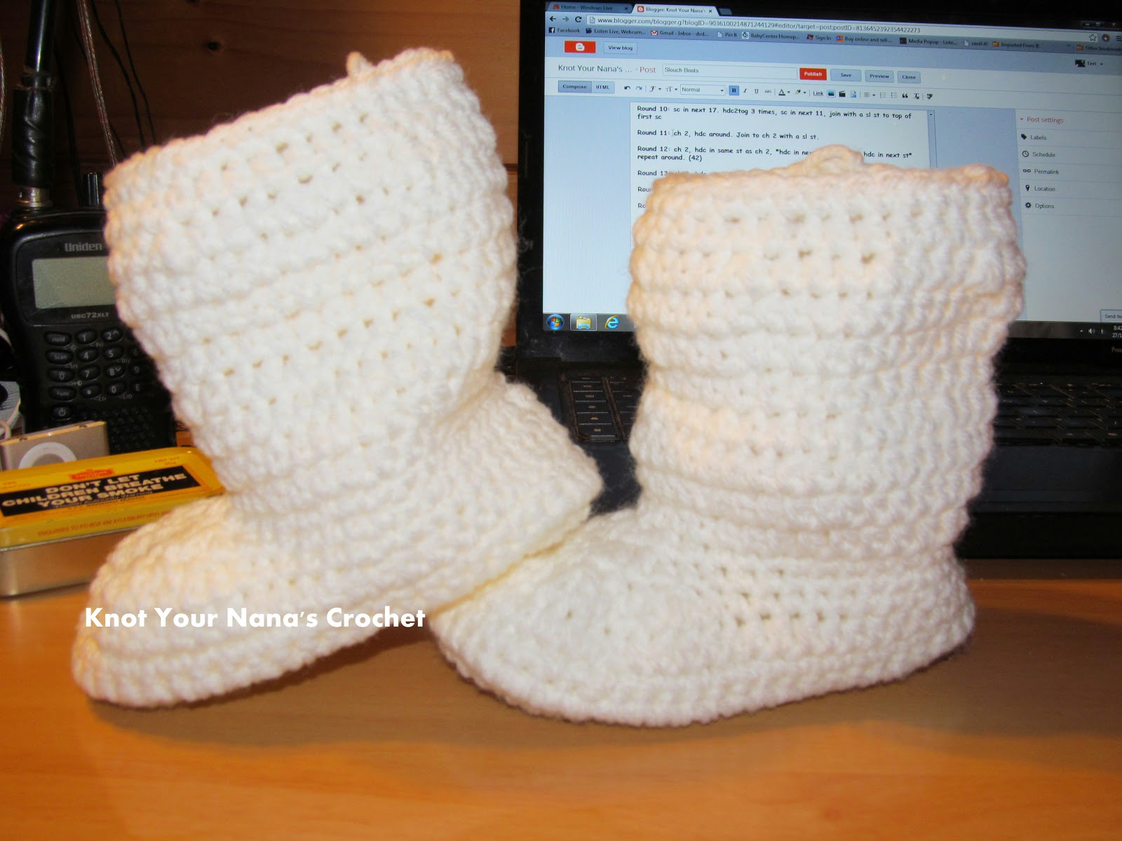 Knot Your Nana\'s Crochet: Slouch Boots - 2-3 years