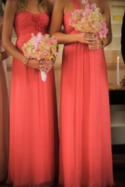 Coral Bridesmaid Dresses What Color Shoes