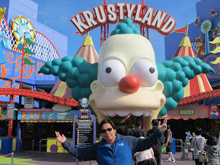 California Universal Studios Hollywood The Simpsons Ride Krustyland