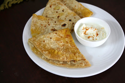 Cheese Aloo Paratha
