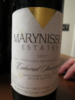 2002 Marynissen Estates Cabernet Sauvignon Marynissen Vineyard