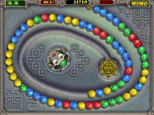 Zuma Deluxe - Скриншоты Бесплатной Скачиваемой Игры.
