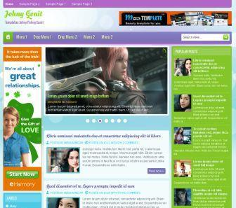 Johny Genit Blogger Template