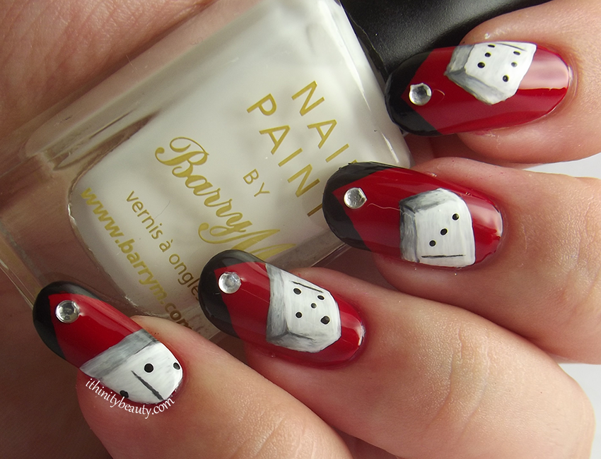 For This Manicure I Began With Two Coats Of Barry M S White As A Base My Red Do You Find Rimmel Reds Stain And Added Queen