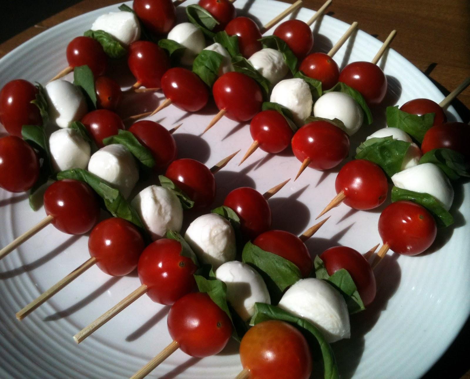 Mozzarella Basil And Tomato Skewers Recipes — Dishmaps