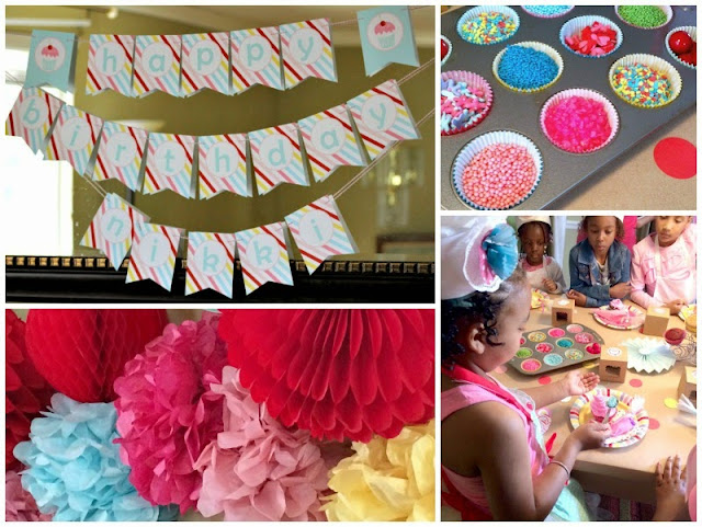cake decorating, cake baking party, girls birthday parties
