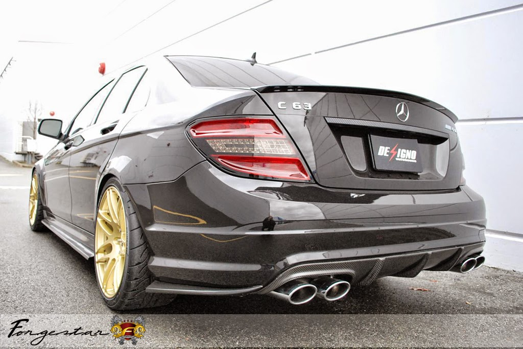 mercedes benz c63 amg on forgestar wheels benztuning. Black Bedroom Furniture Sets. Home Design Ideas