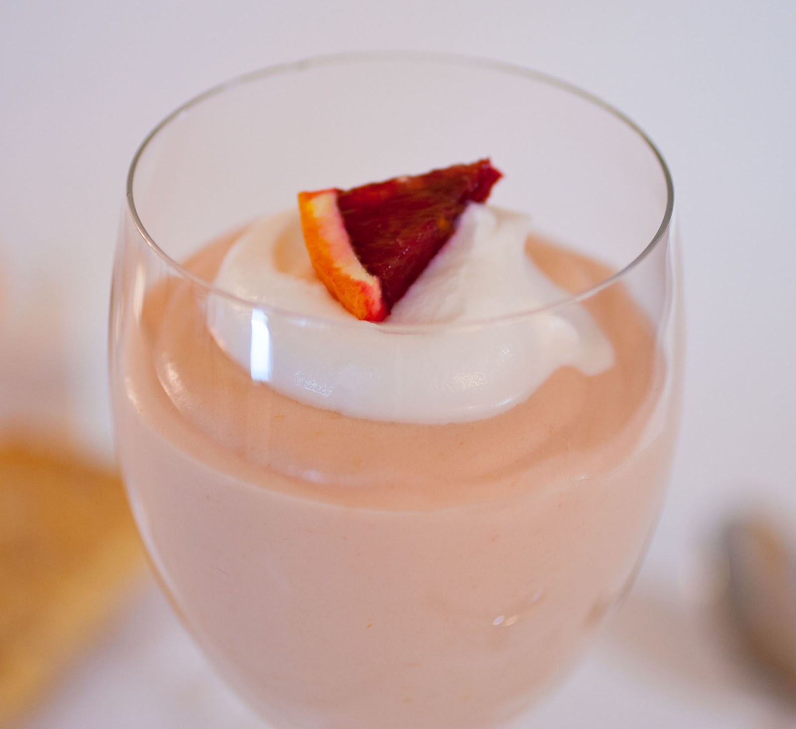 ... Dreams: Blood Orange Mousse with Ginger-Orange Shortbread Triangles