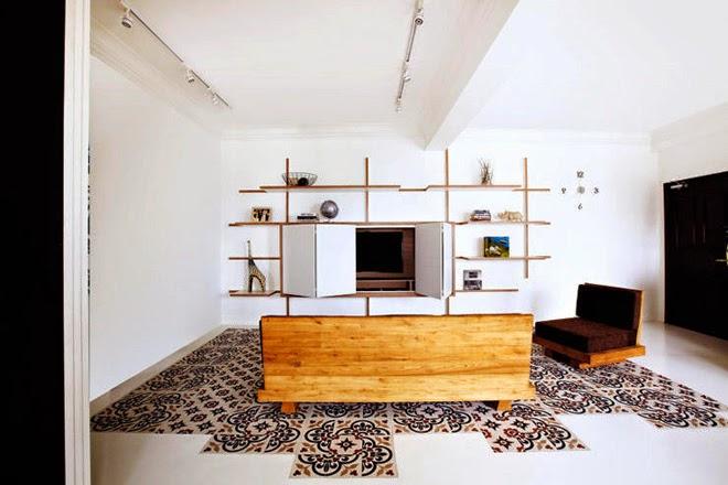 Nội thất căn hộ chung cư kết hợp nét sang trọng và mộc mạc