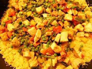 cuscus....pollo e verdure