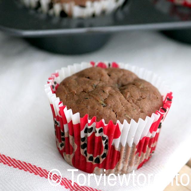 zucchini chocolate muffin