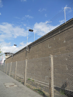 East Berlin prison wall