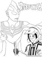 Lembar Mewarnai Gambar Ultraman