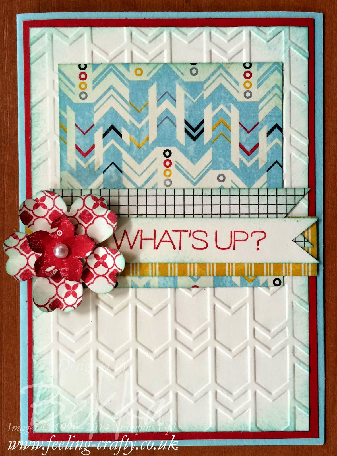 What's Up! Card by Stampin' Up! UK Independent Demonstrator Bekka Prideaux