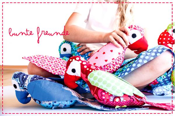 bunte freunde: Papageien - Alarm - Schnittmuster