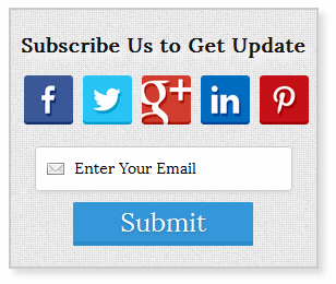 Superb Social Subscription Widget for Blogger/wordpress
