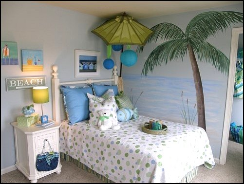 Girls Room Beach Theme Bedroom (11 Image)