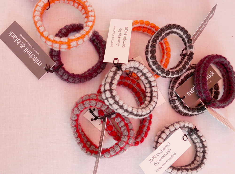 Dundee Pop Up Market, Pop Up Dundee, pop up event Dundee, market Dundee, shopping, Mitchell & Black, Mitchell and Black knitwear, knitted bracelets, knitted bangles