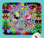 Peace Sign and Butterfly Mousepad
