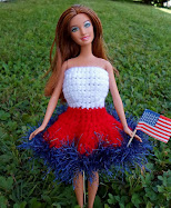 patriotic crochet barbie dress