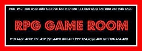RPG Game Room