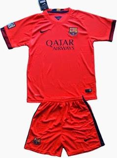jual jersey anak, baju bola anak barcelona away, grade ori, tempat jual baju bola anak dan celana harga murah