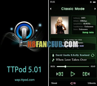 TTPod Extreme 5.1.1 with 90 Skins Music Player for Nokia N8 & other ...