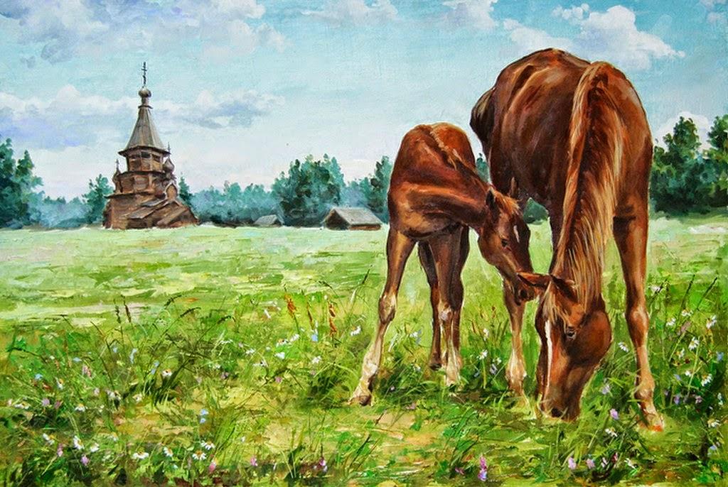 paisaje-al-oleo-con-caballo