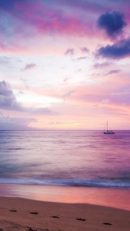 Dreamy Sea Boat Beach  Galaxy Note HD Wallpaper