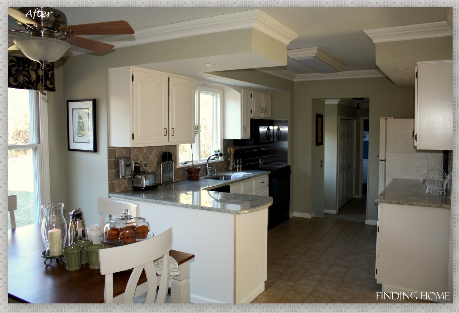 White Kitchen Oak remodelaholic | from oak to beautiful white kitchen cabinets