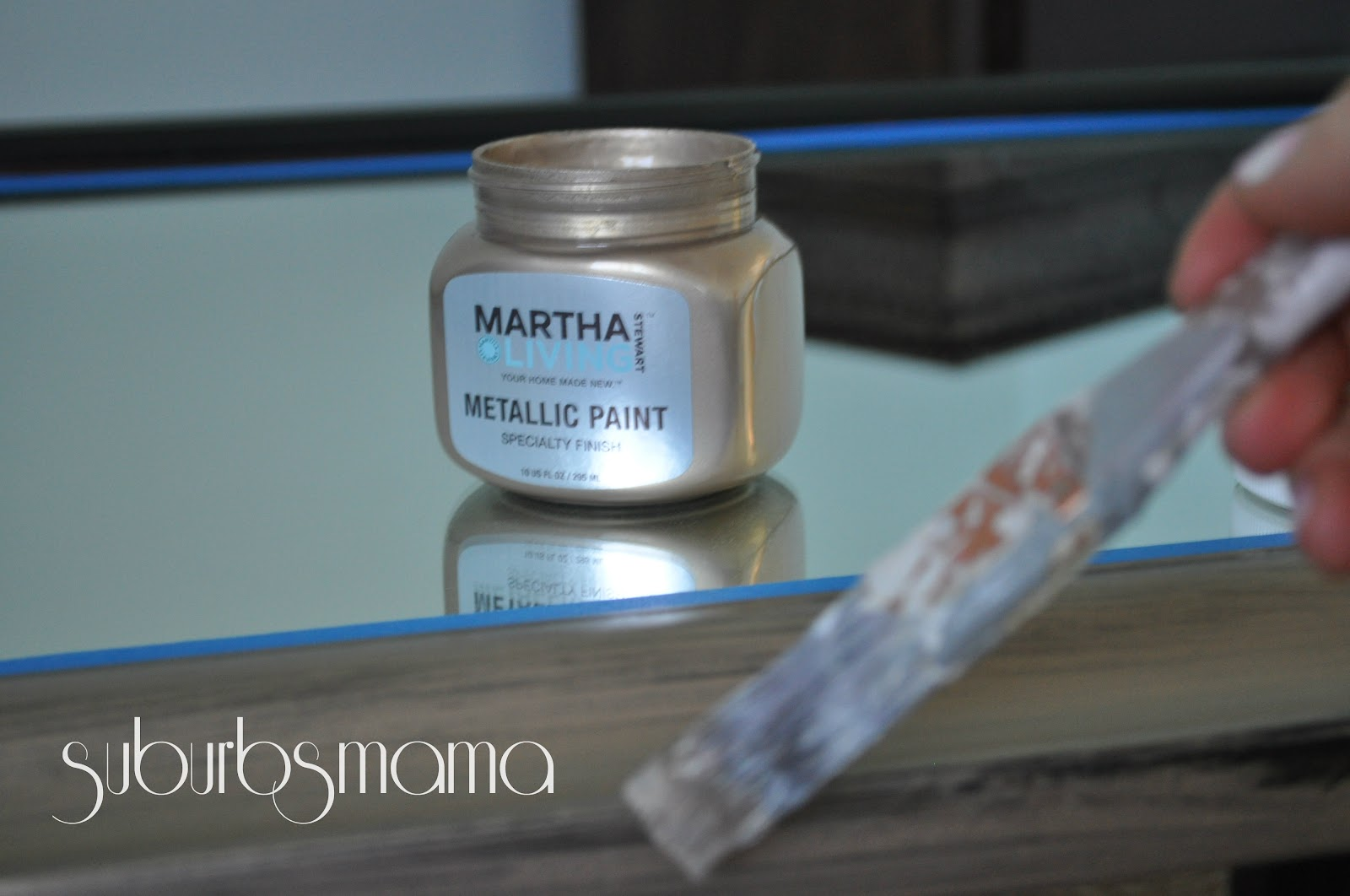ordinary Martha Stewart Vintage Gold Paint Part - 5: I used Vintage Gold first
