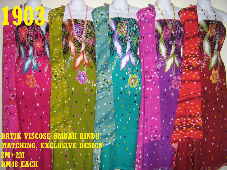BVM 1903: BATIK VISCOSE OMBAK RINDU MATCHING, EXCLUSIVE DESIGN, 2M+2M, 5 COLORS