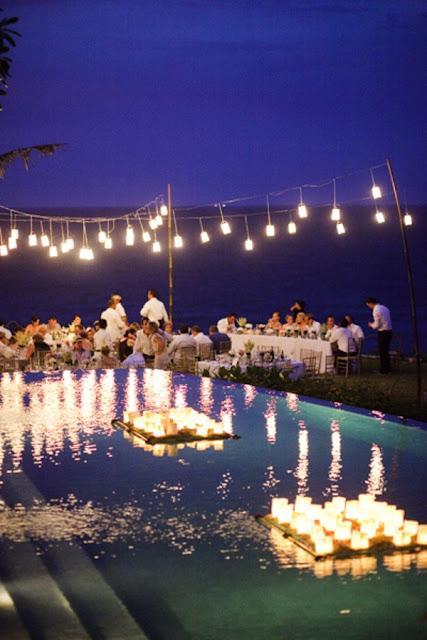 iluminación exterior bodas