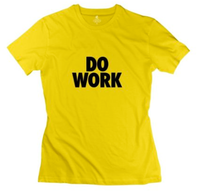 Yellow Do Work Tee
