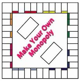 The homeschool voyager make your own monopoly for Monopoly money templates