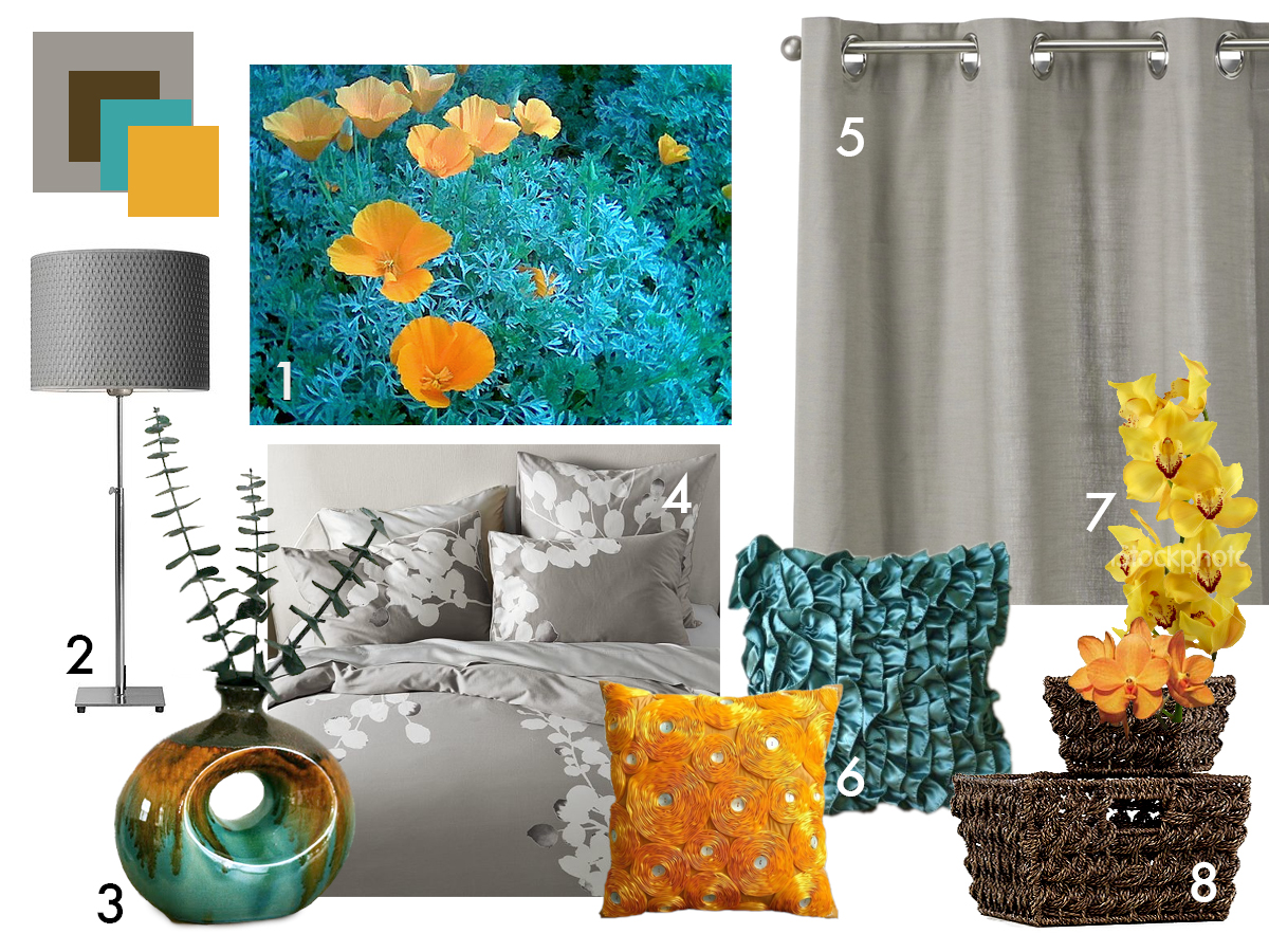 Swingncocoa Bedroom Moodboard California Poppies