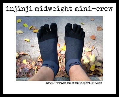 injinji midweight mini-crew toesock