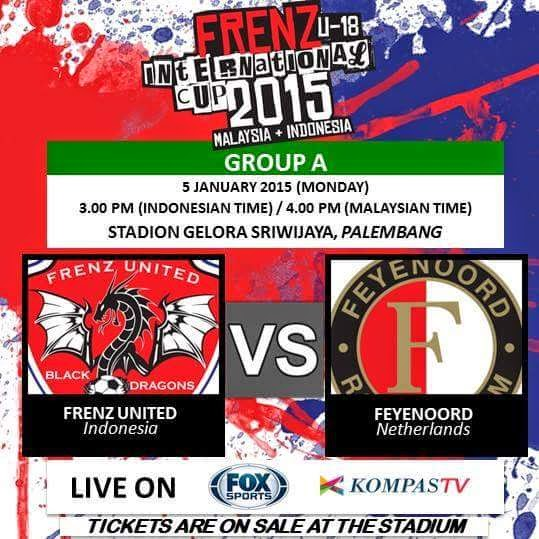 Frenz United Indonesia vs Feyenoord Frenz International Cup 2015