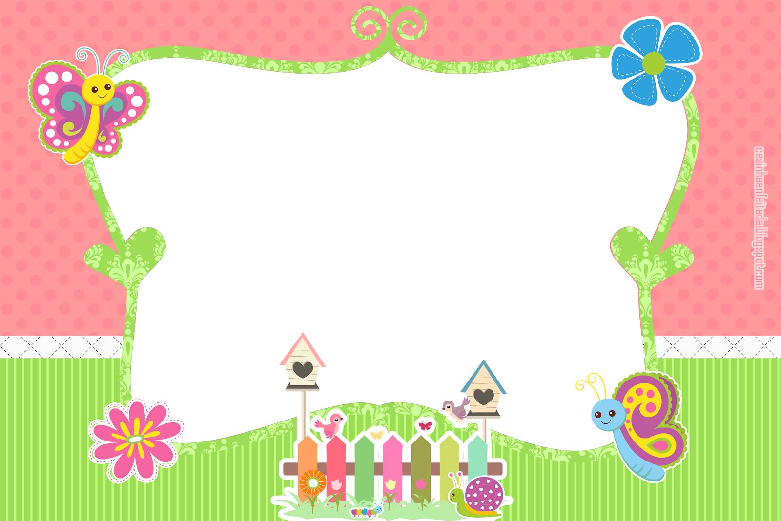 Casinha de Criança Kit Festa Jardim Encantado Para Imprimir Grátis