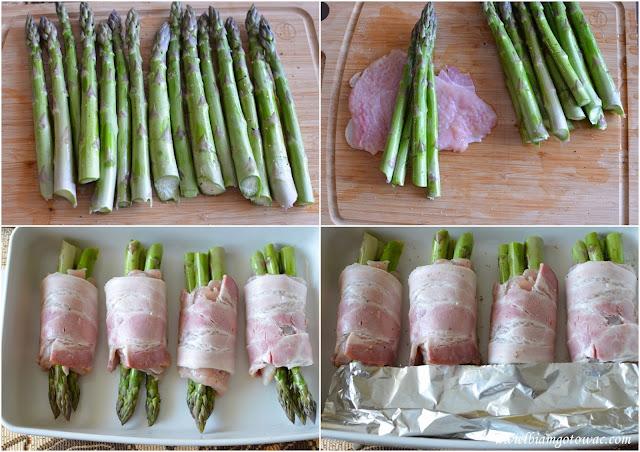 Roladki z kurczaka ze szpragami i boczkiem